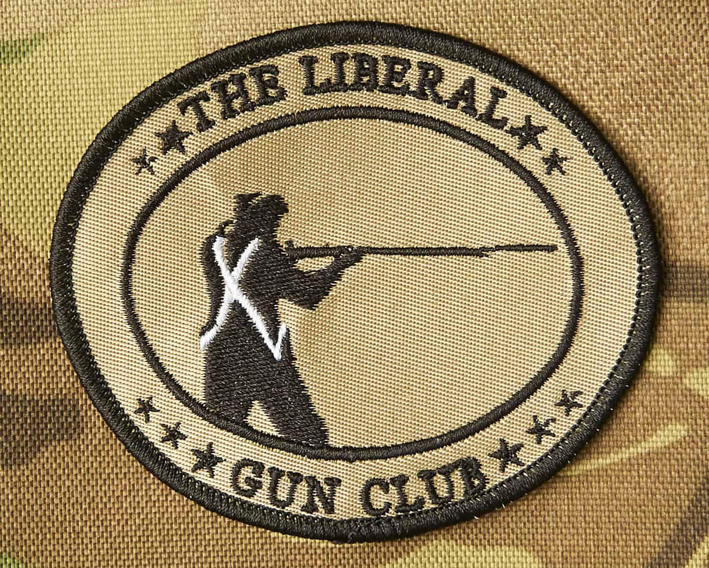 lgc subdued patch the liberal gun club lgc subdued patch